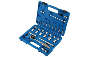 7068 Low Profile/Dual Drive Socket Set 31pc